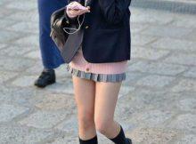 胸がキュンキュンするほど可愛いぃ!!美脚を晒してる超短いスカートの女子高生画像