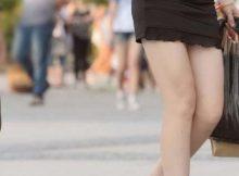 これはレイプされても不思議じゃない…大胆に露出された美脚がエロ過ぎる街撮り盗撮エロ画像