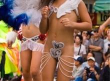 日本も負けてなかったwww全裸同然で踊る日本のサンバカーニバルが非常に抜けるんだがwwww