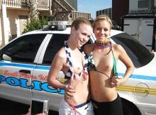 マジキチワロタwww海外の露出狂の中では警察の前で脱ぐのが流行ってるらしいwwwww
