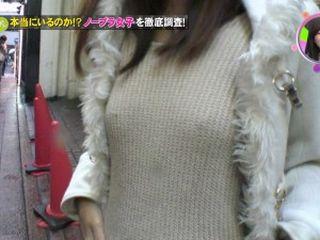 浮き出たポッチで乳首の位置もまるわかりなノーブラシャツの女www