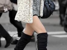 【街撮り盗撮】寒いのに生足で頑張るお姉さんって素敵!ショーパンにブーツ姿がムラムラするww