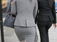 【街角盗撮】タイトスカートでパツパツのお尻がとってもエロいプリケツ素人OL画像集(25枚)