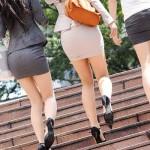 【街撮りOL】問答無用で撫で回したくなる尻がコレwwwタイトスカートのOLさんエロすぎだろwww