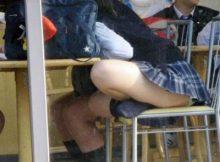 同級生が撮った女子●生のパンチラがエロ過ぎるンゴwww