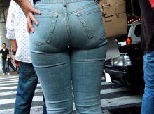 なんだこの尻!?ピチピチジーンズを履いたデカ尻がヤバいwwww