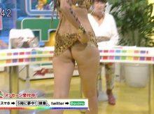 【放送事故エロ画像】テレビにこんな尻を映したらアカンやろwww放送事故寸前のエ□尻ハプニングwww(15枚)
