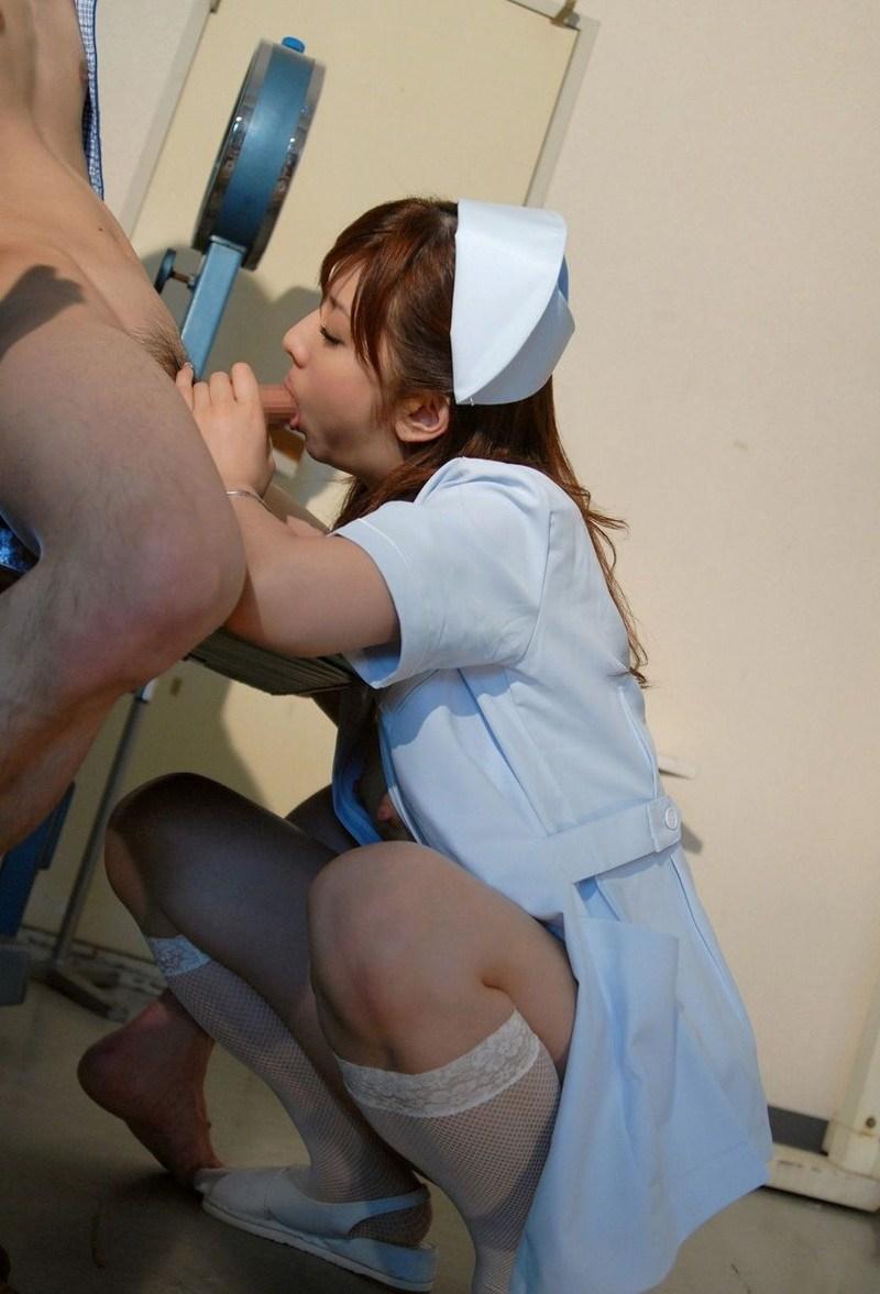 【ナースフェラエロ画像】入院するならこんな看護婦さんにお願いしたいナースフェラwwww その5