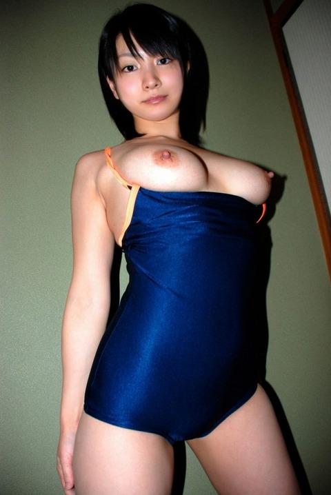 【スク水おっぱいエロ画像】スクール水着には似つかわしくない凶悪なおっぱいがぐぅシコwwww その13