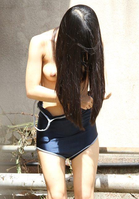 【スク水おっぱいエロ画像】スクール水着には似つかわしくない凶悪なおっぱいがぐぅシコwwww その14