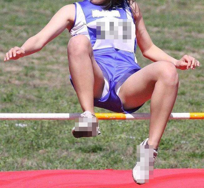 【陸上女子パンチラエロ画像】ムチムチの下半身が強烈www女子陸上選手のユニホームから覗くアンスコがぐぅエロwww その6