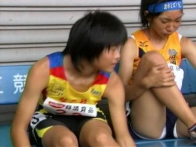 【陸上女子パンチラエロ画像】ムチムチの下半身が強烈www女子陸上選手のユニホームから覗くアンスコがぐぅエロwww その11