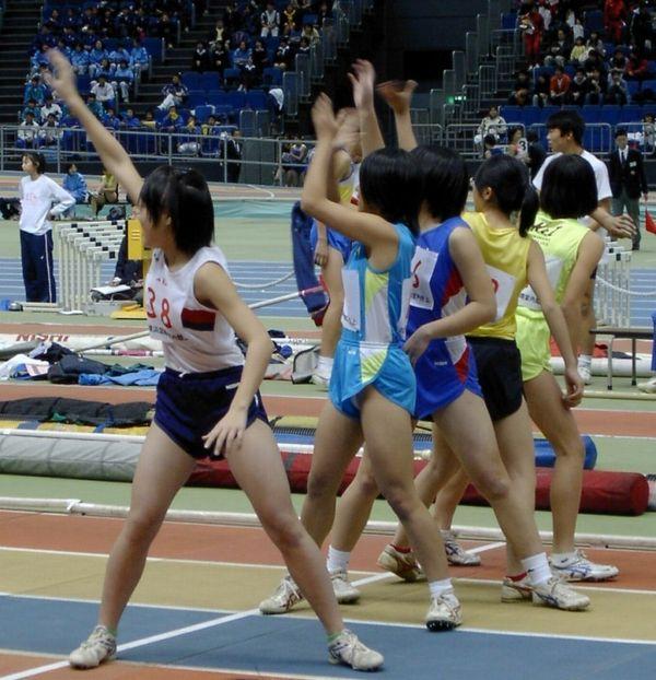 【陸上女子パンチラエロ画像】ムチムチの下半身が強烈www女子陸上選手のユニホームから覗くアンスコがぐぅエロwww その12