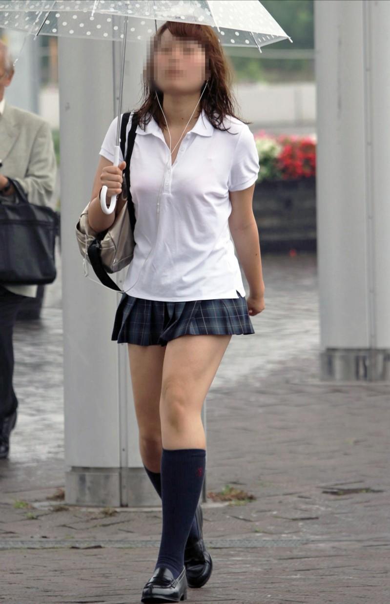 【街撮りJKエロ画像】ぐぅ~~なんだよ、このスカートwwwレイプされても文句言えない女子高生のミニスカ…太ももがエロ過ぎんだろwww その9