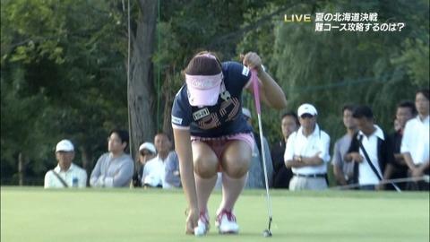 【女子ゴルフエロ画像】どうせアンスコだろ?それでも興奮する女子プロゴルファーの股間!鍛えられた太ももがエロいぜぇwww その2