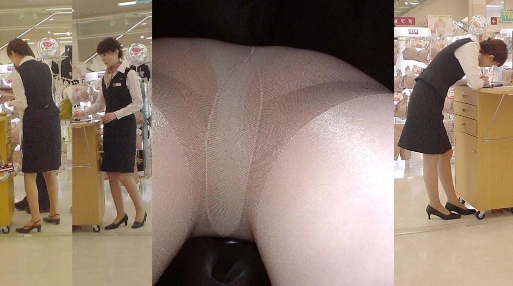 【店員逆さ撮りエロ画像】隠し撮りは身近な人のほうが興奮するよなwww近所のお店で店員さんを逆さ撮り! その3