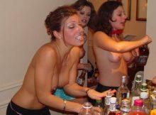 酔っ払うとおっぱい見せたくなる外国人のおねーさん達がめっちゃ楽しそうにおっぱいぽろりしてるんだがwwww