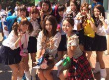 【JK学園祭エロ画像】ちょwwビッチばっかwwww女子校の学園祭がキャバ嬢の集まりにしか見えんwww(15枚)