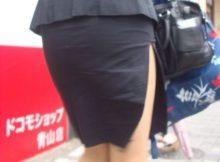 ピタッと張り付くタイトスカート!街撮りされたOLさんの後ろ姿に絶妙なエロさを感じるwww