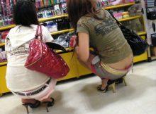 素人娘のパンツが間近でじっくり観察出来るローライズ…恥ずかしさの欠片も持ってない素人がやべぇなwwww