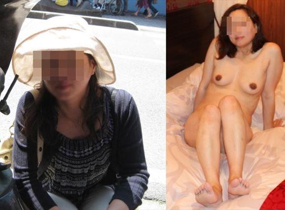 ダンナにだけは見られちゃいけない不貞の証拠…人妻の普段着とぬーどの比較写真wwwwww