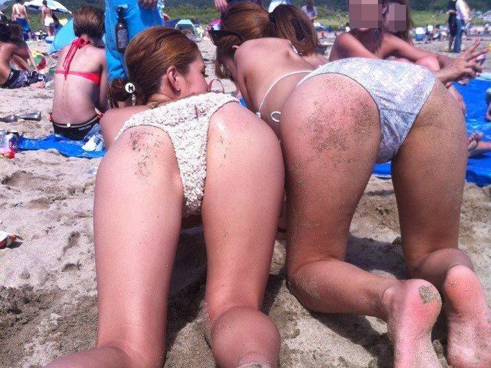 ( ビッチ )夏H本番☆ビッチなGALのプールやビーチでテンションあげあげなおふざけインスタグラムwwwwww
