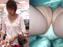 【逆さ撮りエロ画像】リアルさが尋常じゃない…素人娘のスカートを真下から覗く逆さ撮りがやっべぇぇぇ!!