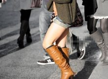 【ショーパンブーツエロ画像】ショーパンで剥き出しになった生脚にブーツ…冬コーデの定番だけど太ももがそそるなwww