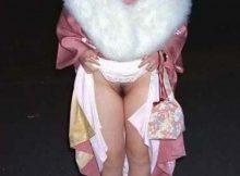 【ノーパンエロ画像】晴れ着や振り袖のしたはノーパンって本当ですか!?
