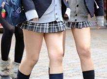 【ミニスカJKエロ画像】スカート丈がおかしいことになってる女子高生…こんなの歩いてるだけでパンツ見えるだろwww