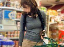 【着衣巨乳エロ画像】デカっ!!思わず目を奪われるおっぱい…ニットやセーターの着衣巨乳が凶悪だなwww