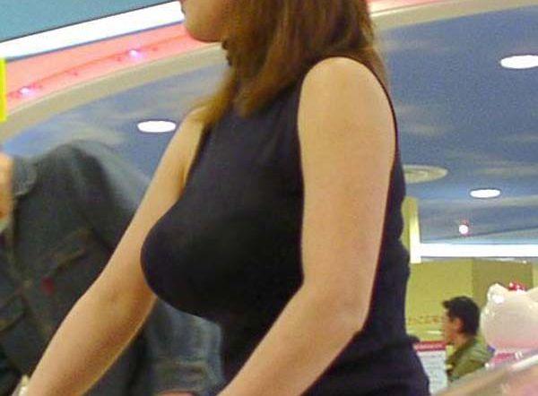 アダルト画像3次元 - 【着衣爆乳エロ画像】シロウトのさりげないSEXアピール♪誰もが振り返る巨大な乳房☆街撮りされた着衣爆乳画像