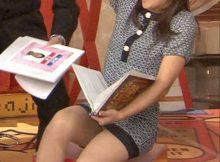 【TVパンチラエロ画像】これはドキッとする!!TVに映った女子アナやアイドルのキワドい股間…パンチラ画像が超卑猥www