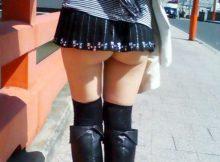 【ミニスカエロ画像】これじゃただの痴女…スカート短すぎてお尻まる見えハミケツ娘の尻肉がぐぅシコwww