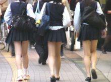 【JK街撮り画像】思わず触りたくなる成長期の肉体!!通学路で撮られた登下校中女子高生のエッチな身体に胸がキュンキュンするwww