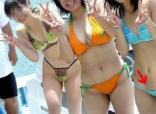 【ハミ毛エロ画像】夏直前…リア充女子はもう一度チェックしとけよ!!水着からはみ出たマン毛は恥ずかしすぎるぞwww