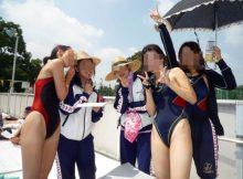 【競泳水着エロ画像】女子水泳部員の鍛えられた肉体がエッロッッッ!!競泳水着から露出するむっちり恵体がサイコーな競泳水着画像