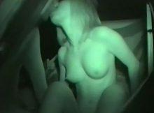 【カーセックスエロ画像】今がシーズン!?夜になると至るところでパコパコ…カーセックス中のカップルを隠し撮りした赤外線エロ画像