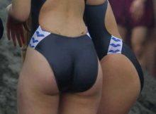 【競泳水着エロ画像】女子水泳部員のお尻は桁違いwwwぷりぷりの肉感がちょーそそる競泳水着食い込むお尻画像