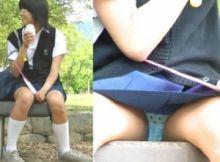 【Jkパンチラ画像】これはおぼこい!!まだまだ子供!?尋常じゃなく興奮してしまう地味な真面目系女子●生のパンチラ画像