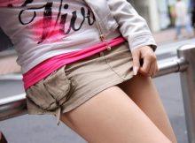 【美脚エロ画像】自分の太ももがエロいことを自覚してるな…男を挑発する超ミニやホットパンツで露出する美脚娘の太ももエロ画像