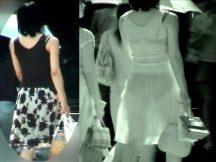 【赤外線街撮りエ□画像】これはやばい…素人の下着が透け透け!赤外線カメラで待ち行く女性を隠し撮りした盗撮エ□画像