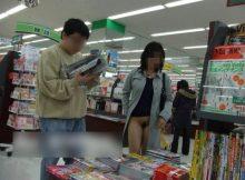 【店内露出エロ画像】実は日常生活の至るところにいる露出狂…普段利用するお店の中で発見した店内露出画像