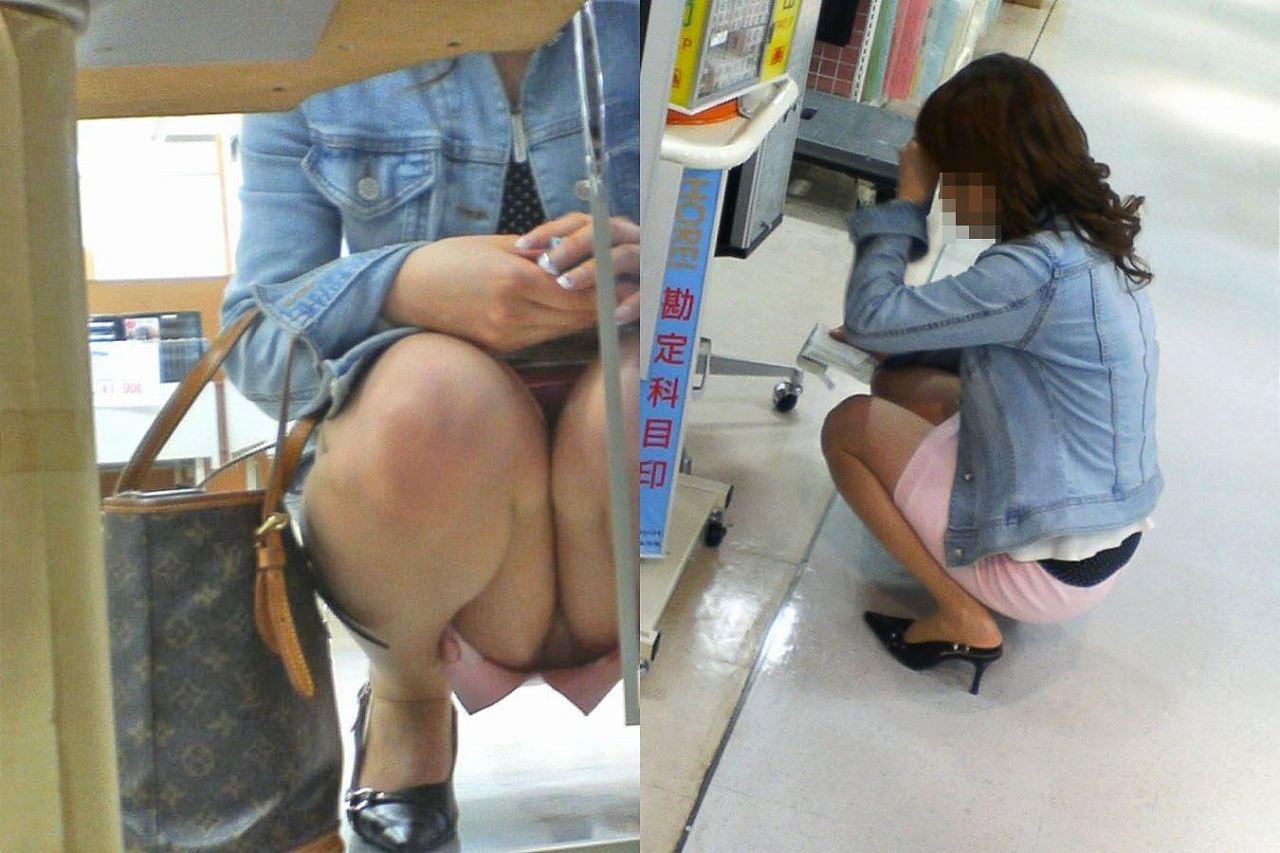 【パンチラエロ画像】買い物に夢中でまったくの無警戒…無防備な下半身を撮られても気づかない女の子のリアルなパンチラ画像 その10
