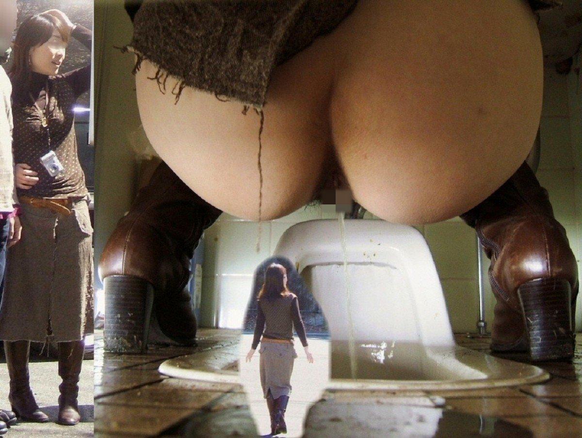 【和式トイレエロ画像】まる見えのお尻がちょー卑猥!!和式トイレを後ろから覗かれた無防備なお尻がエロすぎる隠し撮り画像 その15