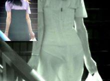 女の子のブラもパンティーもまる見え!!透け過ぎてやばい…赤外線カメラで撮った街撮りエロ画像